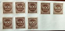 German Deutsches Reich  400 Mark Stamp 1922