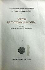 (Economia)F. Saverio Nitti - SCRITTI DI ECONOMIA E FINANZA  VOL. II- Laterza