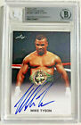 Mike Tyson Signed Leaf Trading Card #FE-MT1 Beckett BAS Slabbed Authentic Auto