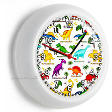 JURASSIC PERIOD DINOSAURS DINO WALL CLOCK NEWBORN BABY BOYS GIRLS NURSERY DECOR