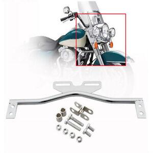 Chrome Driving Spot Fog Light Bar Bracket Fit For Harley Honda Yamaha Cruiser