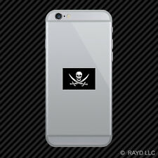 Jolly Roger Calico Jack Rackham Flag Cell Phone Sticker Mobile pirate flag