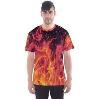 New FLAME FIRE Sublimated Men's Sport Mesh Tee t shirt Size S-5XL Free Shipping