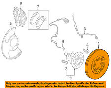 GM OEM Front Brake-Disc Rotor 89040374