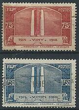 1936 FRANCIA USATO MONUMENTO MEMORIA CANADESI - EDF021