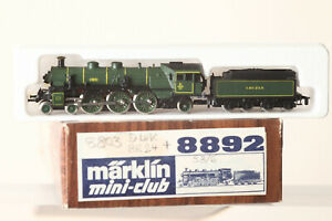 Märklin Mini Club Z Gauge 8892 Dampflokomtive S3/6 Green 3673 Bay Sts.b. (