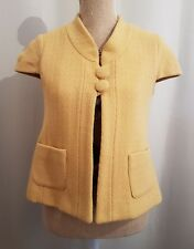 PRECIOUS Ladies Size 8 Mustard Colour Sleeveless Jacket ( Slight Little Spot )