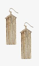 EXPRESS METAL FRINGE CHEVRON EARRINGS