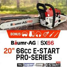 """2,800W Power 20"""" 66cc Chainsaw with E-Start Petrol EURO 2-2 Stroke Commercial"""