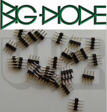 20 x cabecera Pin tira una fila recto macho 4-Pin 4P 2.54mm