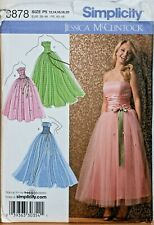 Simplicity Sewing Pattern Dress Gown 1950s Style Occasion 12-20 McClintock 3878