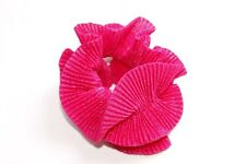 Beautiful Women Fuchsia Pink Sparkly Textured Frilled Large Scrunchie (S67)