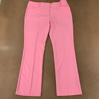 NY&C Women's Size 16 Pink Mid Rise Double Stretch Barely Bootcut Pants NWT