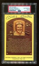 Mickey Mantle Signed Baseball HOF Yellow Plaque Autographed Yankees PSA/DNA
