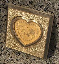 Happy Anniversary Love Heart Wedding Collectors Plate Plaque 24K Gold 9999