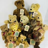 Boyds Bears Plush Lot Of 12 Collectibles With Tags Displayed Only 5.5 to12 inch