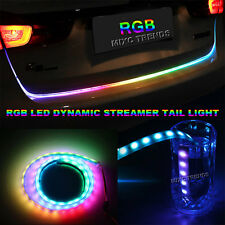 RGB Multicolor Car Trunk Light LED Strip with Brake Turn Indicator Running Modes
