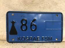 Kosrae Motorcycle License Plate