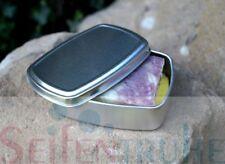 Seifendose Seifenbox mit Schwamm, Aluminiumdose, Blechdose, Dose aus Aluminium