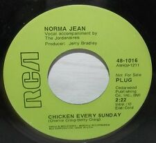 NORMA JEAN CHICKEN EVERY SUNDAY & HEAVENLY RCA PROMO 45 #48-1016 NM-