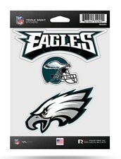 Philadelphia Eagles Triple Spirit Sticker Sheet Die Cut Decal New Color Logo