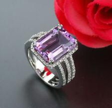 Amethyst Diamant Ring 6,82 carat 925-Silber Wert 1650 Euro Neu