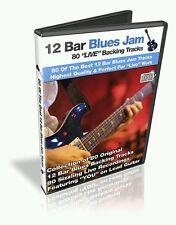 80 12 Bar Blues Guitar  Backing Tracks, High Quality, Real Musicians MP3 CD