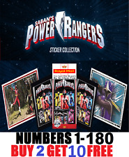 Panini  POWER RANGERS NINJA STEEL  STICKERS!  Buy 2 get 10 FREE!! FREE Postage!