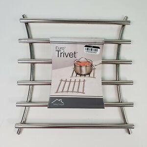 Spectrum Diversified 50778 Satin Nickel Euro Square Trivet     - Free Shipping -
