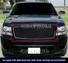 Fits 2007-2013 Chevy Tahoesuburbanavalanche Black Mesh Main Upper Grille