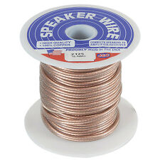 JSC Wire 100 ft. 18 AWG Speaker Wire Cable Clear USA