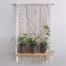 Macrame Knitted Rope Woven Tassel Wall Hanging Handmade Tapestry Decor Beige UK