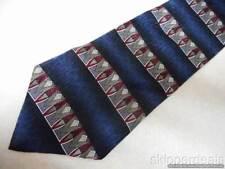 VAN HEUSEN MENS NECK TIE 100% SILK BLUE RED & GRAY NEW