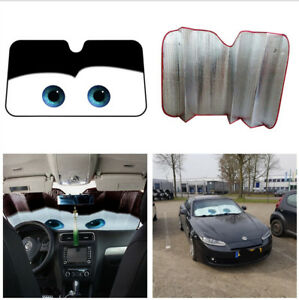 Black Aluminium Foil Big Eyes 51.2 x 27.56 Inches Car Front Window Cover 1pc