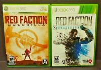 Red Faction Guerrilla + Armageddon - MicroSoft XBOX 360 Game Lot Tested Works