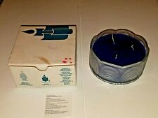Partylite 3 Wick Candle In Glass Bowl - P71764 Ocean Mist- New- Unlit FREE SHIP