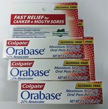 3 Tubes Colgate Orabase 20% Benzocaine (DISCONTINUED READ DESCRIPTION)
