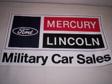 ORIG Aufkleber Ford Lincoln Mercury Military Car Sales 80er, Continental Mustang