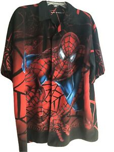 MARVEL Spider Man 2002 Vintage Rayon Casino Large Shirt