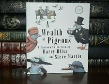 New Hand Signed Steve Martin Harry Bliss Wealth Of Pigeons 1st Edition Hardcover