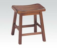 ACME Furniture 18-Inch Gaucho Stool Set of 2 In Walnut Finish 7303 New