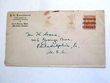 Precancel #160 on Cover, J.C.Rosenbaum,Dealer to Phila PA, 1930's, toning on cov