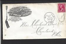 "Beaver Falls, Pennsylvania Cover 1890, #220, Factoryadvt. H.M.Myers"" Shovels""."