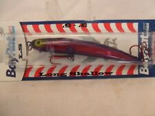 """Bay Rat Lures Long Shallow Minnow Purple Pumps  4 1/8"""" New In The Package B9"""