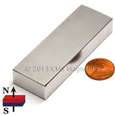 "Neodymium Block Magnet N42 3x1x1/2"" Strong NdFeB Rare Earth Magnets 10 PC"
