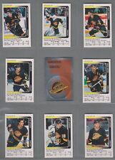 1991-92 Panini Stickers Vancouver Canucks Complete Team Set (15)