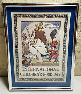 Vintage Maurice Sendak International Children's Book Day Framed Print Hans RARE