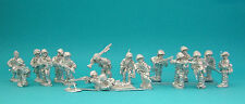 28mm WW2 German Squad 02 (10 figs)  . Bolt Action Chain of Command unpainted.