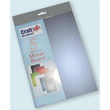 A4 CARTONCINO fogli SPECCHIO Mirri Board Blu Pacco da 5