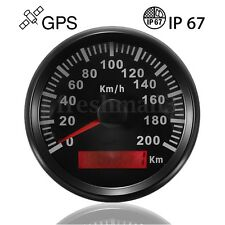 200KM/H Stainless Steel GPS Speedometer Car Motor Auto Waterproof Digital Gauges